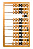 Abacus. Retro calculator ? old wooden counting frame Stock Photos