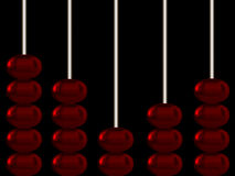 Abacus. With shiney metallic spheres Royalty Free Stock Images