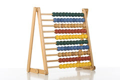 Abacus. Colourful children abacus over white background Royalty Free Stock Images