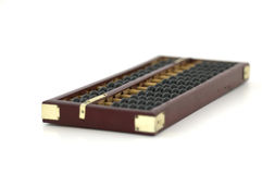 Abacus. Old wooden abacus on white background stock image