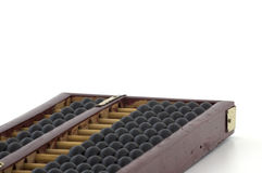 Abacus. Old wooden abacus on white background stock photos