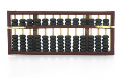 Abacus. Old wooden abacus on white background royalty free stock photo