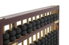 Abacus. Old wooden abacus on white background royalty free stock photos