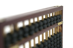 Abacus. Old wooden abacus on white background royalty free stock images