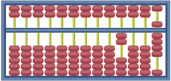 Abacus. Fully editable vector illustration of an abacus with numbers adding up to 2009 Royalty Free Stock Photography
