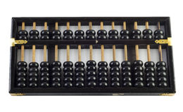 Abacus. Chinese old vintage abacus on white Stock Images