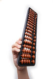 Abacus. Full shot of abacus over white background with hand stock images