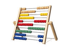 Abacus. Background calculus count green learning life material mathematics number out reckon red several still studio teaching white wood work yellow Royalty Free Stock Images