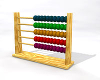 Abacus. Wooden abacus with color balls Royalty Free Stock Photo