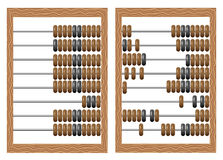 Abacus. Vector illustration of old-fashioned wooden abacus isolated on white background stock illustration