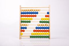 Abacus. Traditional abacus used for counting Stock Photo