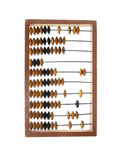 Abacus accounting wooden vintage isolated. Office Stock Photography