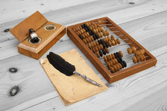 Abacus accounting wooden vintage Royalty Free Stock Photography