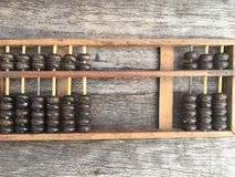 Abacus , ancient calculator for education Royalty Free Stock Photography