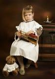 Abacus And Teddy Bear Stock Photos