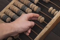 Abacus - antique device Royalty Free Stock Image