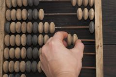 Abacus - antique device Stock Image