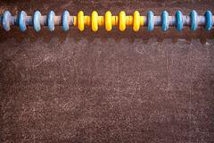 Abacus and balckboard Stock Photo