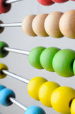 Abacus Beads Angled Close Up Royalty Free Stock Photos