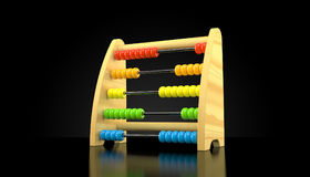 Abacus. On black background 3d Vector Illustration
