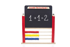 Abacus and black board Royalty Free Stock Image