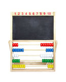 Abacus with blackboard Royalty Free Stock Photos