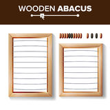 Abacus Blank. Vector Template Illustration Of Classic Wooden Abacus. Shop Arithmetic Tool Equipment. Calculating Concept. Abacus Blank. Vector Template royalty free illustration