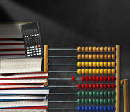 Abacus Books and Calculator royalty free stock photo