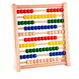 Abacus With Bright Colored Beads Royalty Free Stock Photography