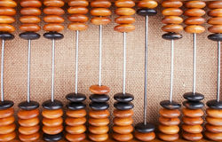 The Abacus on Burlap Royalty Free Stock Images