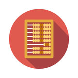 Abacus calculation flat icon. On white background Royalty Free Stock Photos
