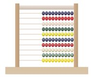 Abacus, Calculator Design Concept. Vector eps 10 Stock Illustration