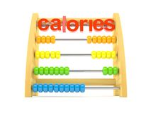 Abacus with calories text. Isolated on white background vector illustration