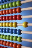 Abacus close up of rows of beads Stock Photos