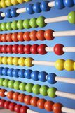 Abacus close up of rows of beads Stock Images