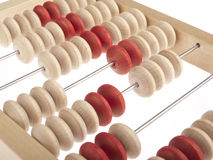 Abacus. Close-up on white background Stock Photography