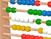 Abacus. Close view of an abacus isolated Stock Image