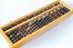 Abacus closeup object tool isolated. Background Royalty Free Stock Photo
