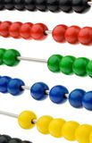 Abacus with colored beads Stock Image