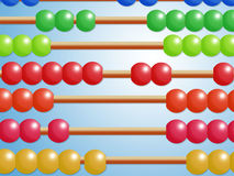 Abacus with colored beads Stock Photos