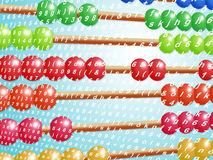 Abacus with colored beads Stock Photography