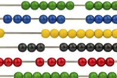 Abacus with colored beads Stock Photo