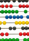 Abacus with colored beads Royalty Free Stock Photography