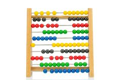 Abacus with colorful beads Stock Photos
