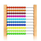 Abacus with colorful wooden beads Stock Images