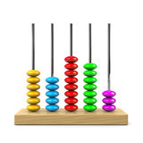 Abacus. Colorful Wooden Abacus Illustration on White Background stock illustration