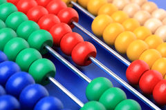 Abacus with coloured beads Royalty Free Stock Photos