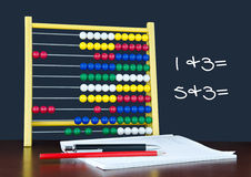 Abacus for counting. A abacus for counting in the classroom Royalty Free Stock Photography