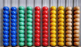 Abacus for Counting Practice Royalty Free Stock Images
