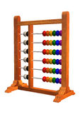 Abacus. 3D digital render of an abacus isolated on white background Royalty Free Stock Photos